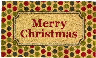CHRISTMAS POLKA DOT WELCOME MAT
