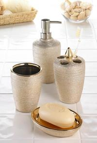 GOLDEN SHIMMER BATH ACCESSORIES