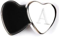 MONOGRAM HEART KEEPSAKE BOXES