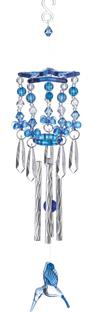 BLUE HUMMINGBIRD WIND CHIMES