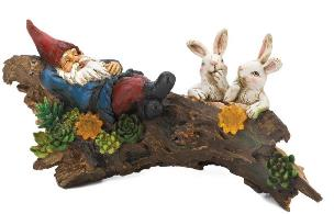 Sleeping Gnome With Bunnies