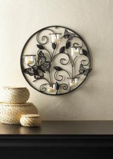 Butterfly Candlelight Wall Sconce