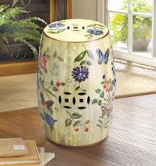 Bytterfly Garden Ceramic Stool