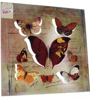 Rustic Butterfly 3-D Wall Art